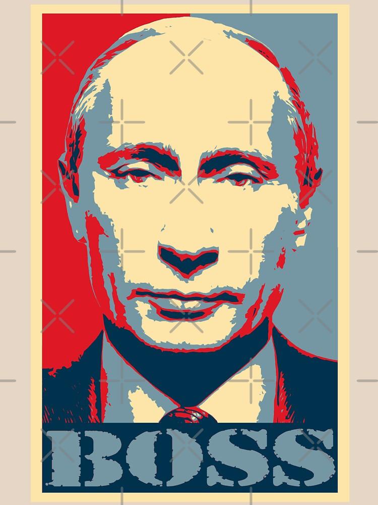 Vladimir Putin, obama poster, boss by hottehue