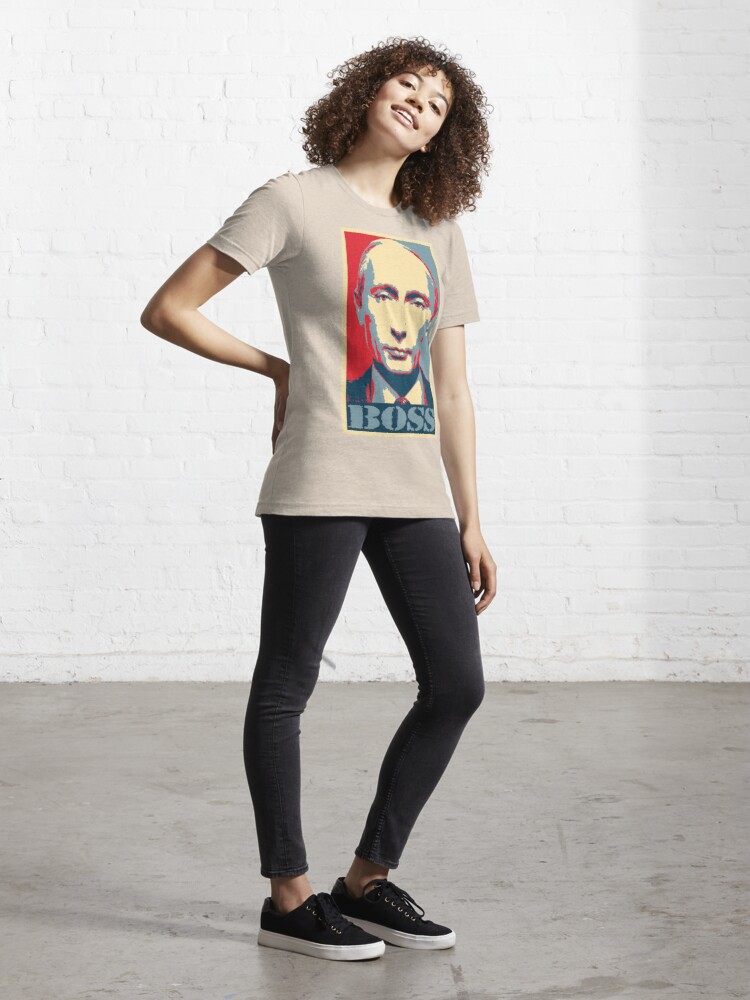 Alternate view of Vladimir Putin, obama poster, boss Essential T-Shirt