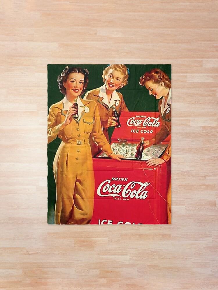 Alternate view of coca cola vintage Comforter