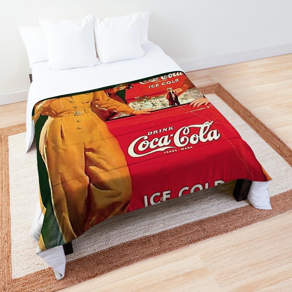 coca cola vintage Comforter