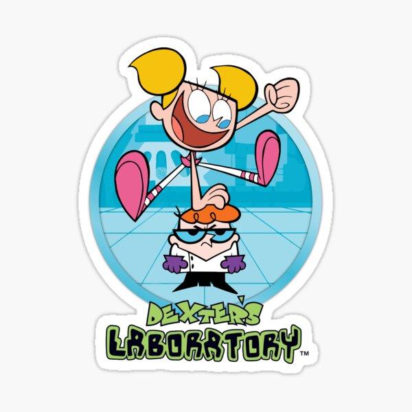 Dexter and Dee Dee Graphic - Dexter's Laboratory Sticker