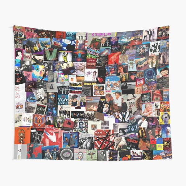 Album Cover Collage - 80's Edition Tapestry