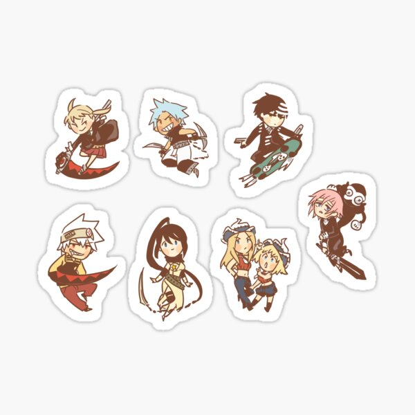 Soul Eater gang sticker set Sticker