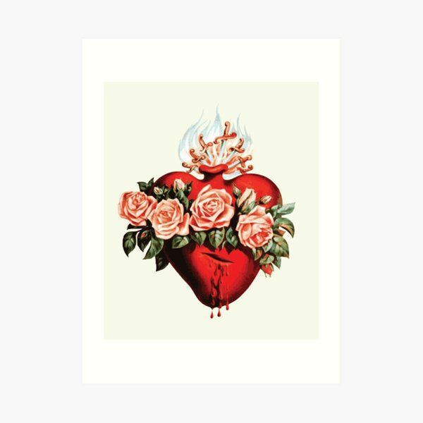 Immaculate Heart of Mary Vintage  Art Print