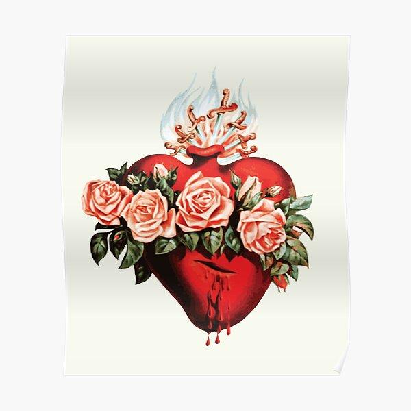 Coeur immaculé de Mary Vintage Poster