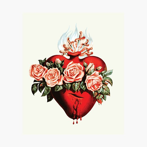 Immaculate Heart of Mary Vintage  Photographic Print