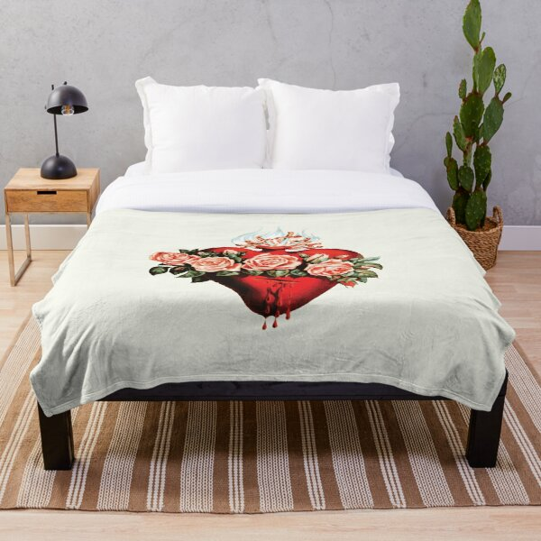 Immaculate Heart of Mary Vintage  Throw Blanket