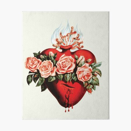 Immaculate Heart of Mary Vintage  Art Board Print