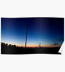 Sunset Near Vaemla Poster