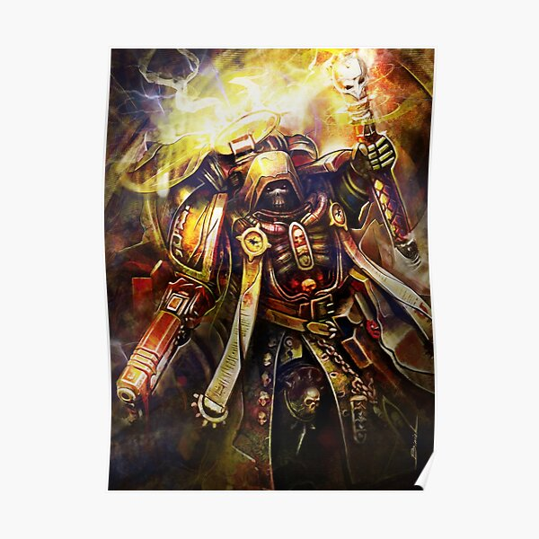 Primaris Chaplain Space Marines Warhammer40k Fanart Poster