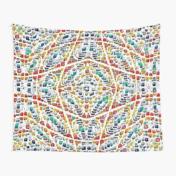 Emoji, solid twisting mesh, volume representation Tapestry