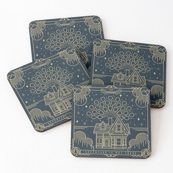 Adventure is out there Coasters (Set of 4)