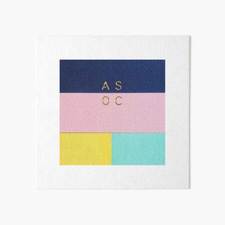 Colorful blocks  Art Board Print