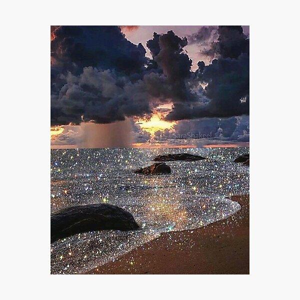 Glitter Beach  Photographic Print