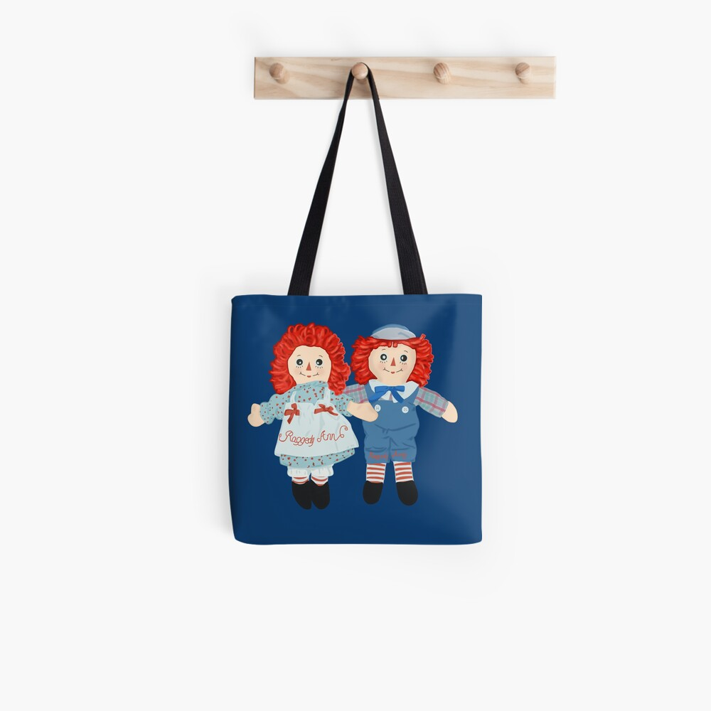 Raggedy Ann and Raggedy Andy the vintage dolls  Tote Bag