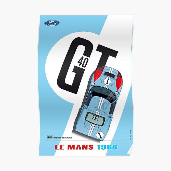 GT40 Ken Miles, Denis Hulme Póster