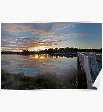 Srivener Dam Sunrise  Poster