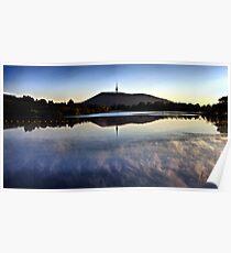 Black Mountain on the Lake Poster