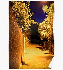 Village Street - Thermi, Lesvos Poster