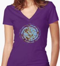 DotS  - JUSTART ©  Women's Fitted V-Neck T-Shirt