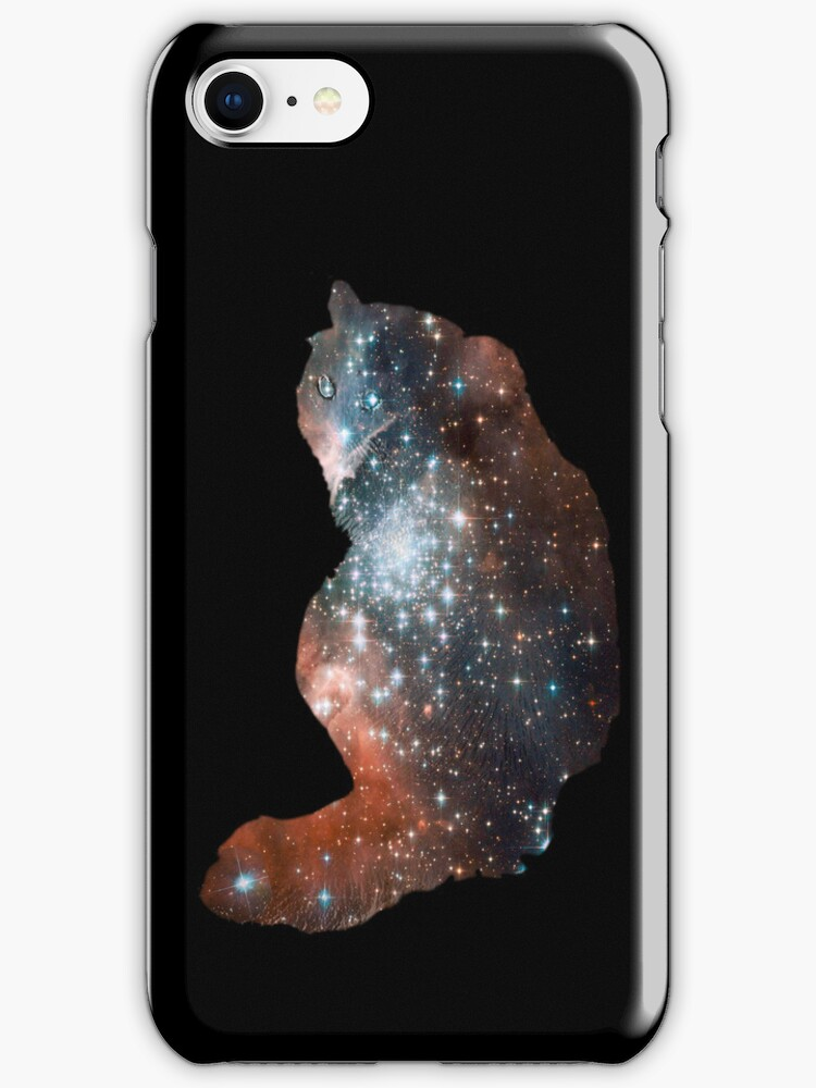 Star cat Pippin - iPhone case by Odille Esmonde-Morgan