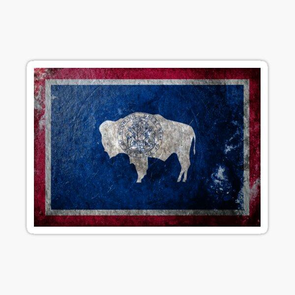 Wyoming Grunge Sticker