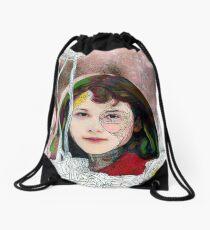 portrait of Gracie::no.3 Drawstring Bag