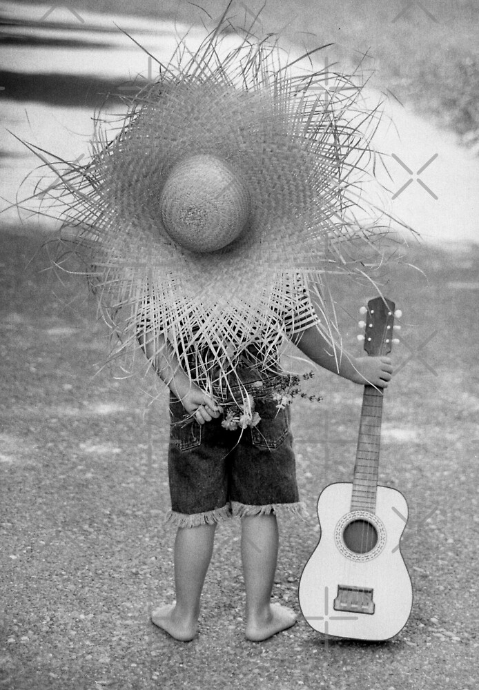 Boy And Guitar by Christine  Wilson