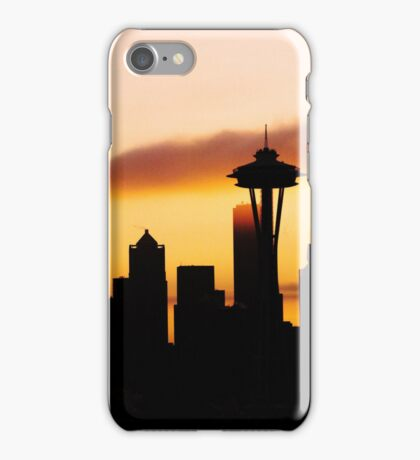 A Foggy Morning In Seattle iPhone case. iPhone Case/Skin