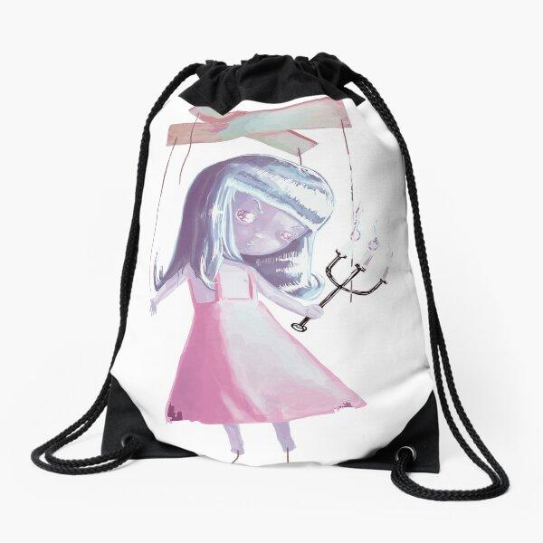 Marionnette Doll, Version 2 Drawstring Bag