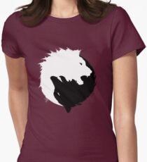 Der Wolf und der Löwe Tailliertes T-Shirt für Frauen