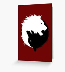 The Wolf and The Lion Greeting Card