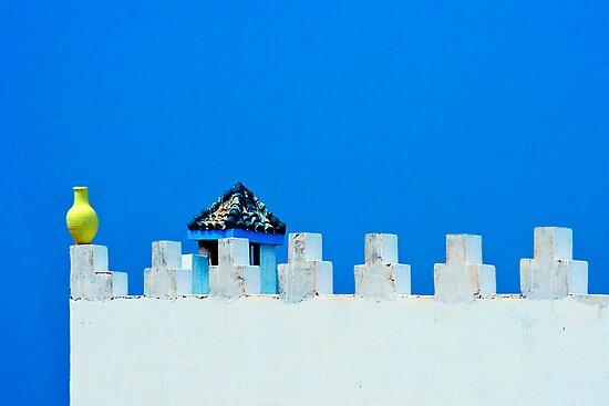 Battlements in Blue by Damienne Bingham