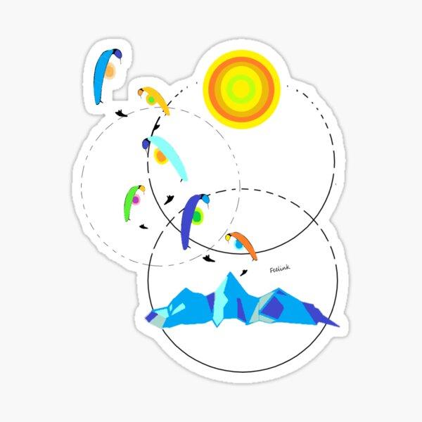 Berg, paraglider, paragliding, sun Sticker