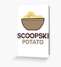 Scoopski Potato Greeting Card