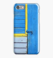Blue Shed with Yellow iPhone Case/Skin
