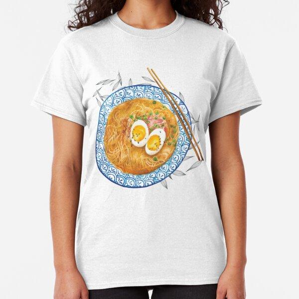 Ramen Noodles Bowl - Watercolour food illustration Classic T-Shirt