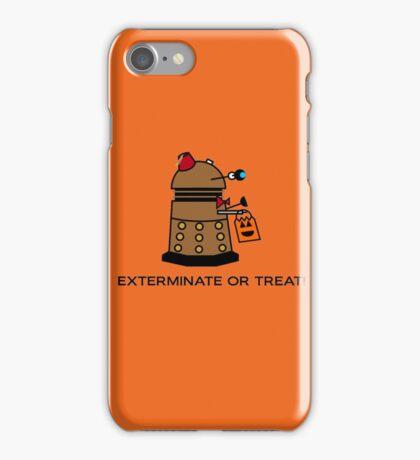 Exterminate or Treat - Full Color iPhone Case/Skin
