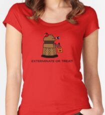 Exterminate or Treat - Full Color Women's Fitted Scoop T-Shirt