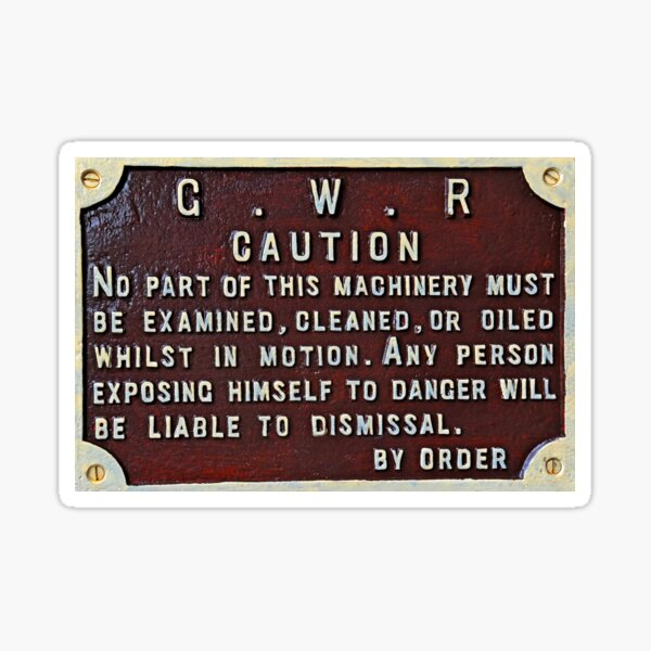 Gwr Official Sign Sticker