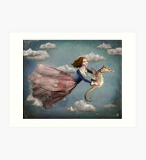 Voyage in the sky Art Print