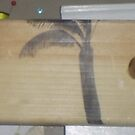 Drawing A Palm Tree ON Wood by Bearie23