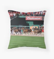 Budweiser Clydesdale 8 Horse Hitch Throw Pillow