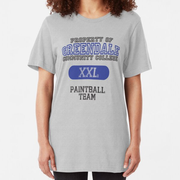 Greendale paintball team Slim Fit T-Shirt