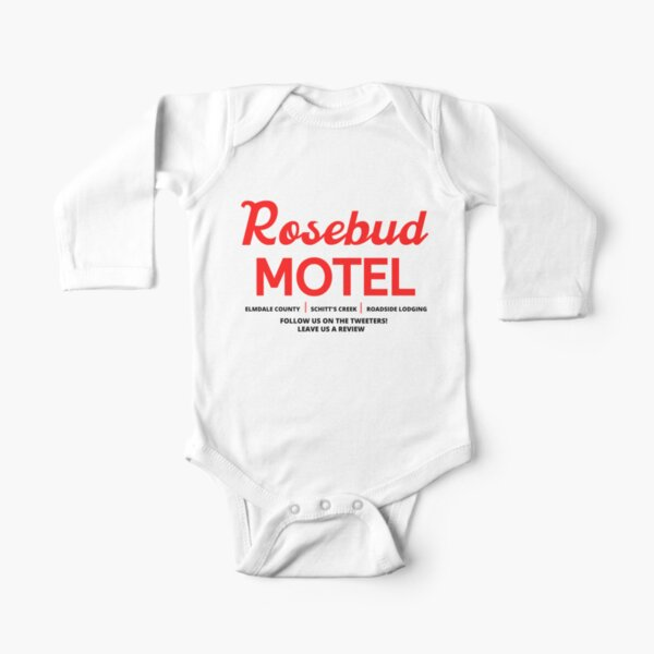 Schitt's Creek Rosebud Motel Logo Long Sleeve Baby One-Piece