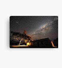 Edeowie Station Under the Milky Way Canvas Print