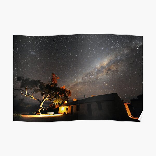 Edeowie Station Under the Milky Way Poster