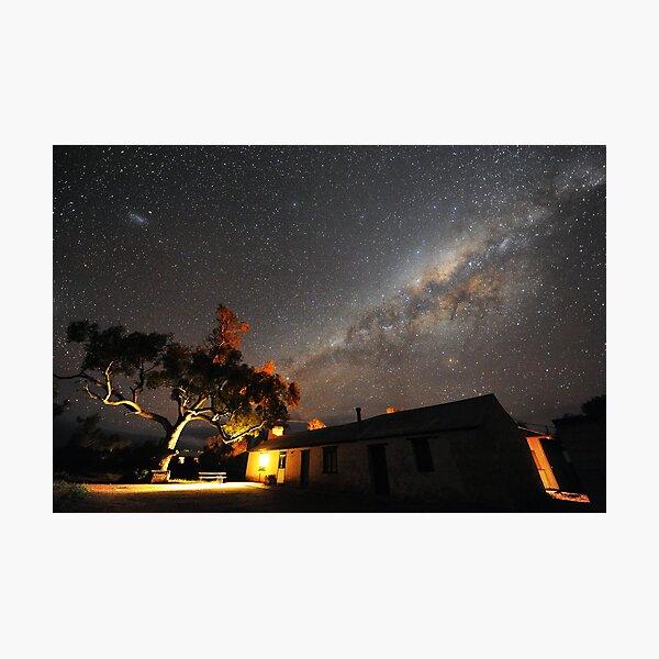 Edeowie Station Under the Milky Way Photographic Print