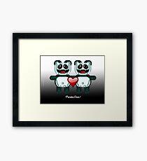 PANDA LOVE Framed Print