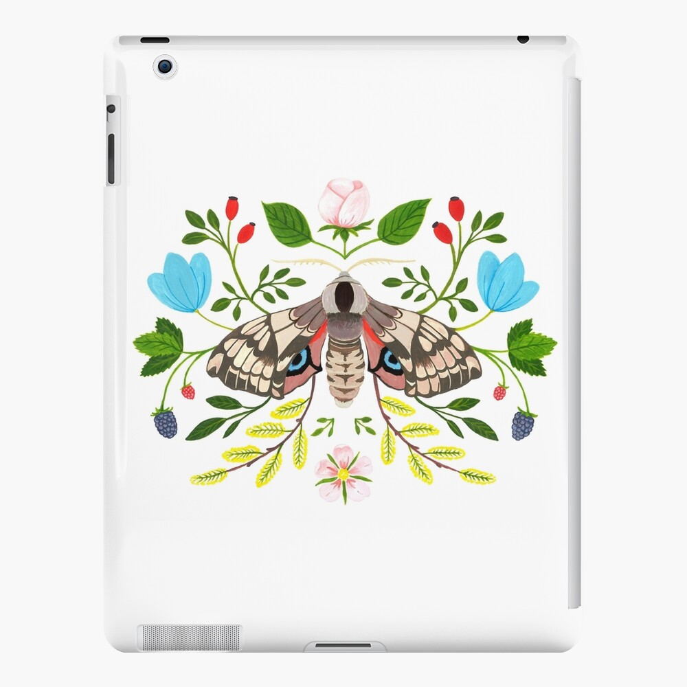 Moth with Berries and Rosehip iPad Case & Skin